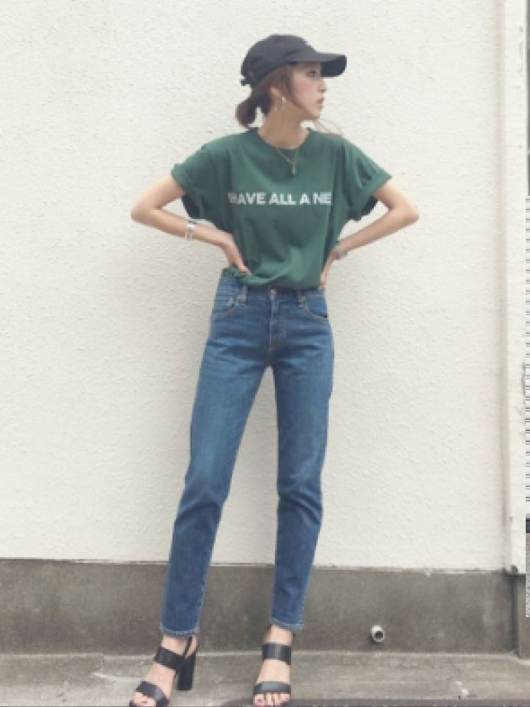Ungrid(アングリッド) |I HAVE ALL A NEED Tee コーデ02